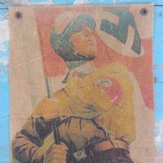 Militaria: ANTIGUO Y PRECIOSO CARTEL DE REICHSFÜHRER DE LAS SS - 2ª GUERRA MUNDIAL - III REICH - CON SELLO DETR. Lote 52916382