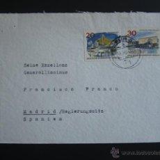 Militaria: CARTA DIRIGIDA AL GENERAL FRANCISCO FRANCO DESDE BERLIN. SELLO SECRETARÍA PARTICULAR GENERALISIMO . Lote 52923605