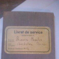 Militaria: LIBRETA DE SERVICIO MILITAR,CONFEDERACION SUIZA,1936,PORTADOR NACIDO EN 1917.NEUCHATEL. Lote 53141517