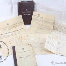 Militaria: CARTILLA NAVAL DE LA MARINA DE GUERRA ESPAÑOLA Y DOCUMENTOS - COCINERO - AÑO 1943. Lote 53218627