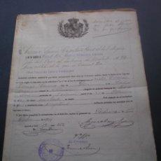 Militaria: DOCUMENTO MILITAR, LICENCIA ABSOLUTA, JATIVA, VALENCIA, 1911 . Lote 53468963