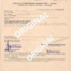 Militaria: DOCUMENTO EMITIDO POR ARTHUR PHLEPS OBERGRUPPENFUHRER SS DE LA 7ª DIVISIÓN PRINZ EUGEN. Lote 53500497