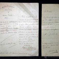 Militaria: ALCALDÍA CONSTITUCIONAL DE FAURA 1911. CERTIFICACIÓN ENFERMEDAD MENTAL. EXENCION SOLDADO QUINTA 1910. Lote 53605956