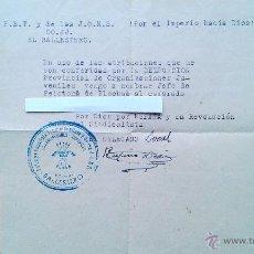 Militaria: CARTA DE NOMBRAMIENTO DE PELOTON DE FLECHAS. FET Y DE LAS JONS EL BALLESTERO ALBACETE. FALANGE. Lote 201515387