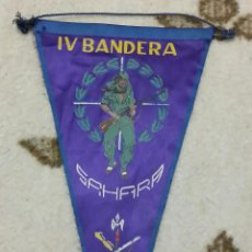 Militaria: BANDERIN DE LA LEGION, IV BANDERA, TERCIO DUQUE DE ALBA, , SAHARA,. Lote 53712824