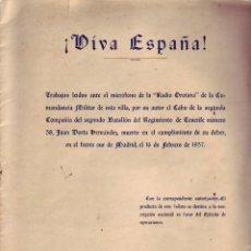 Militaria: VIVA ESPAÑA - RADIO OROTAVA - TENERIFE 1936. Lote 53796041
