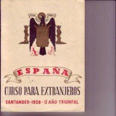 Militaria: CURSO PARA EXTRANJEROS 1938. Lote 53796518