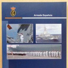Militaria: ARMADA ESPAÑOLA. FRAGATA ALVARO DE BAZAN. DIPTICO BIENVENIDO A BORDO. VUELTA AL MUNDO.. Lote 133732057