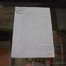 Militaria: 3686.-CARTA MANUSCRITA CON EL MEMBRETE DE LA GUARDIA CIVIL DE ZARAGOZA AÑO 1877. Lote 53890413