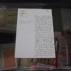Militaria: 3686.-CARTA MANUSCRITA CON EL MEMBRETE DE LA GUARDIA CIVIL DE ZARAGOZA AÑO 1877. Lote 53890469