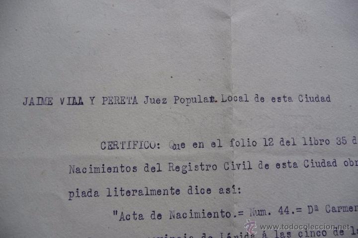 jx-1330)certificado expedido por el juez popul - Comprar Propaganda ...