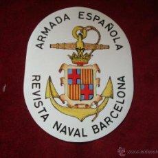 Militaria: REVISTA NAVAL BARCELONA ADHESIVO DE PAPEL . Lote 54031083