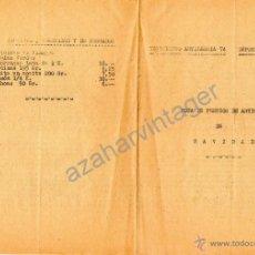Militaria: REGIMIENTO ARTILLERA 74, DEPOSITO DE VIVERES, NOTA PRECIO ARTICULOS NAVIDAD 1960. Lote 54059934