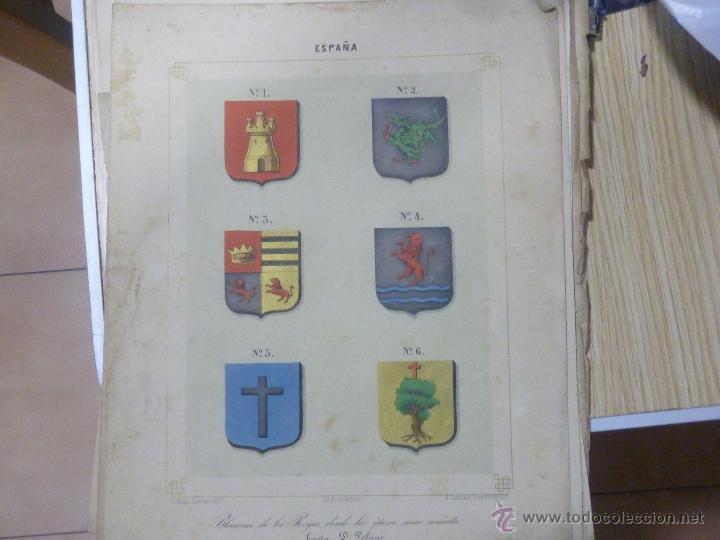 LOTE DE 16 LITOGRAFIAS DE CONDECORACIONES ESPAÑOLAS, SIGLO XIX (Militar - Propaganda y Documentos)