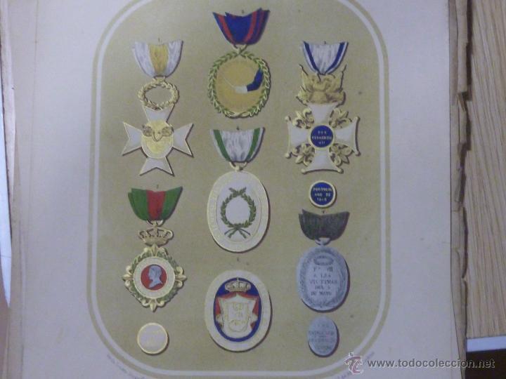 Militaria: LOTE DE 16 LITOGRAFIAS DE CONDECORACIONES ESPAÑOLAS, SIGLO XIX - Foto 7 - 54087163