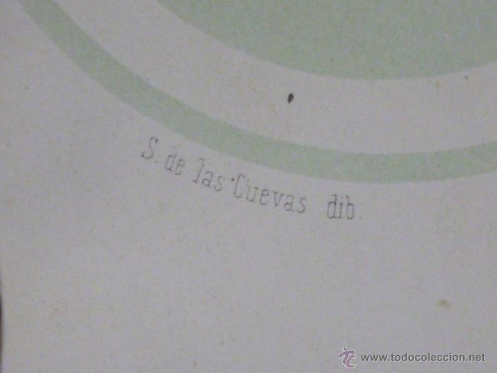 Militaria: LOTE DE 16 LITOGRAFIAS DE CONDECORACIONES ESPAÑOLAS, SIGLO XIX - Foto 12 - 54087163