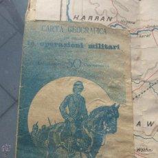 Militaria: CARTA GEOGRAFICA PER SEGUIRE LE OPERAZIONI MILITARI: LA COLONIA ERITREA-ANTONIO VALLARDI MILANO-1895. Lote 54153285