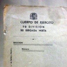 Militaria: PAPEL CON MEMBRETE, CUERPO DE EJERCITO, REPUBLICA, 5º BATALLON 32 BRIGADA, 3 DIVISION, GUERRA CIVIL. Lote 54220180