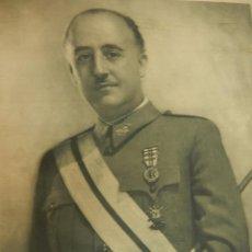 Militaria: PÓSTER FRANCISCO FRANCO. LÁMINA RETRATO OFICIAL.. Lote 54563950