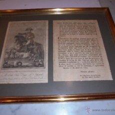 Militaria: (M) GIRONA - PROCLAMA - GUERRA DEL FRANCES , 1º DE ABRIL 1809 POR DON MARIANO ALVAREZ DE CASTRO. Lote 54612297