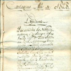 Militaria: CAPITANES GENERALES ARMADA URIARTE Y SARTORIO. EXCEPCIONAL LOTE DE DOCUMENTOS S.XVIII Y XIX.. Lote 54692831