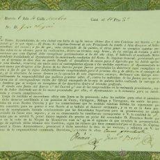Militaria: DO-056. RECLAMACIÓN PARA LA ENTREGA DE DESERTORES. PAPEL IMPRESO. BARCELONA. 1829.. Lote 51976575