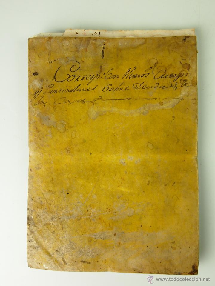 DO-004 - DOCUMENTACION MILITAR 3ER REGIMIENTO ALMANSA N. 18. ALEJANDRO GASSER. CIRCA 1840 (Militar - Propaganda y Documentos)
