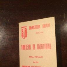 Militaria: CARNET ORGANIZACION SINDICAL 1966. Lote 54811387