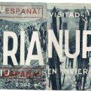 Militaria: PS5492 FOLLETO TURÍSTICO DE NURIA (CATALUÑA) CON IMPRESIÓN POSTERIOR DE 'ARRIBA ESPAÑA'. Lote 46644377