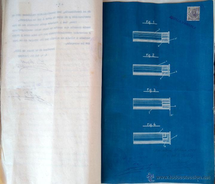 PATENTE ESPAÑOLA,INVENTO CARTUCHO MUNICION PARA PISTOLA-REVOLVER LEFAUCHEUX,AÑO1919,AVANCARGA,ARMA (Militar - Propaganda y Documentos)