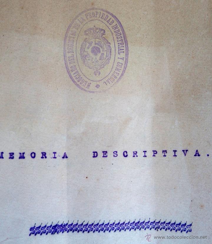 Militaria: PATENTE ESPAÑOLA,INVENTO CARTUCHO MUNICION PARA PISTOLA-REVOLVER LEFAUCHEUX,AÑO1919,AVANCARGA,ARMA - Foto 3 - 54977142