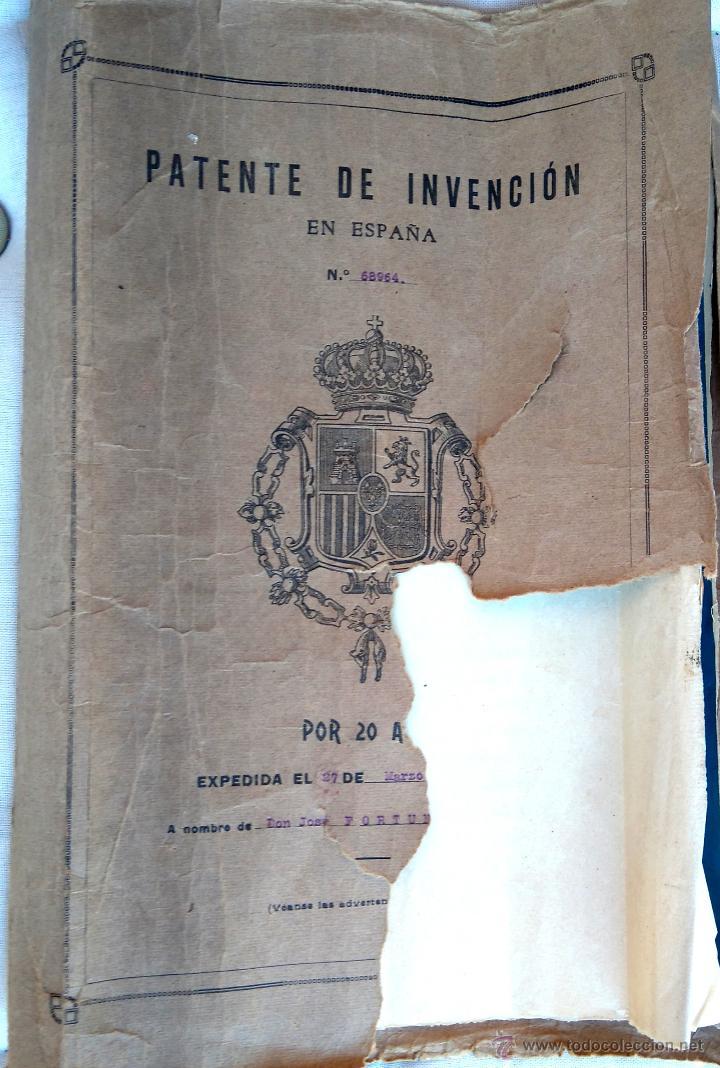 Militaria: PATENTE ESPAÑOLA,INVENTO CARTUCHO MUNICION PARA PISTOLA-REVOLVER LEFAUCHEUX,AÑO1919,AVANCARGA,ARMA - Foto 4 - 54977142