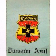 Militaria: PEGATINA DE LA DIVISIÓN AZUL SELLO CÍRCULO ESPAÑOL AMIGOS DE EUROPA CEDADE NAZISMO NAZI ULTRADERECHA. Lote 54991093