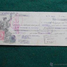 Militaria: LETRA DE CAMBIO FEBRERO DE 1.938 GUERRA CIVIL ESPAÑOLA. Lote 55075497