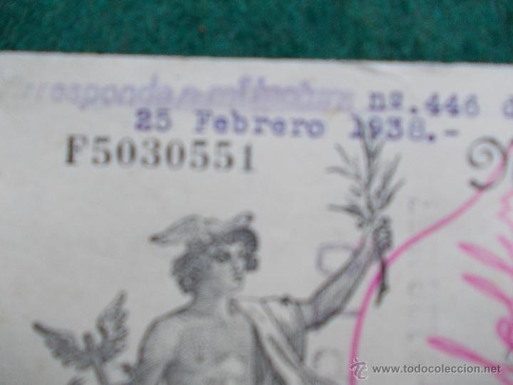 Militaria: Letra de cambio febrero de 1.938 Guerra Civil Española - Foto 2 - 55075497