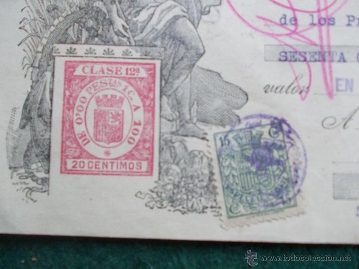 Militaria: Letra de cambio febrero de 1.938 Guerra Civil Española - Foto 3 - 55075497