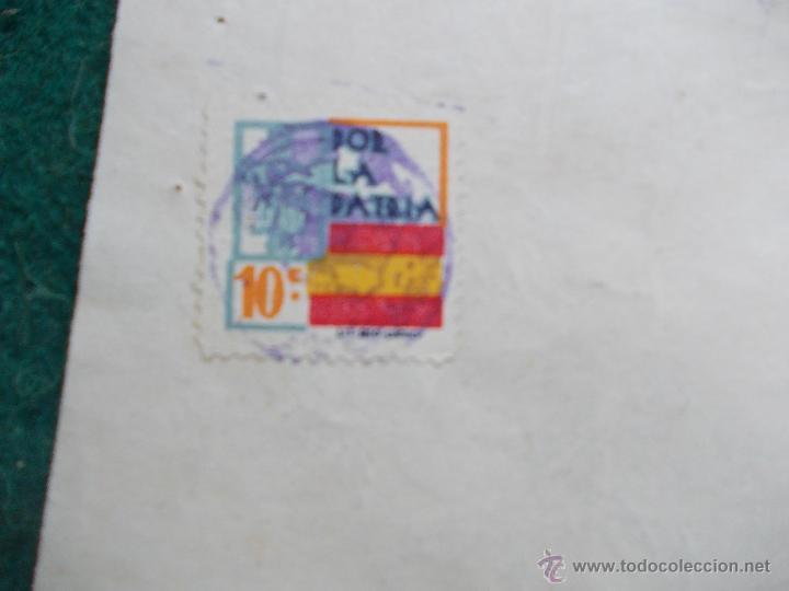 Militaria: Letra de cambio febrero de 1.938 Guerra Civil Española - Foto 4 - 55075497