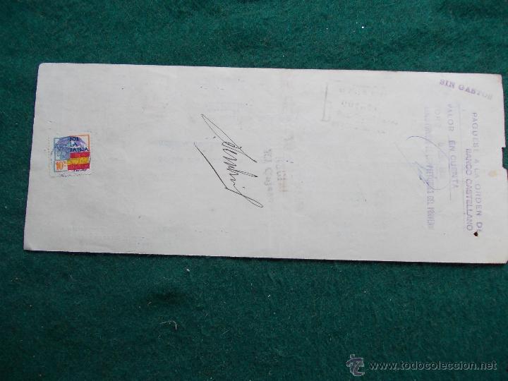 Militaria: Letra de cambio febrero de 1.938 Guerra Civil Española - Foto 5 - 55075497