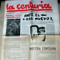 Militaria: LA CENTURIA - PORTAVOZ DE LA JUVENTUD NACIONAL - SINDICALISTA DICIEMBRE 1943 VALLADOLID. Lote 55568182