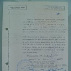 Militaria: AVIACION , SEGUNDA REGION AEREA: NOTIFICACION TRIENIOS, ETC A CAPITAN. SEVILLA, 1976. PÓLIZAS. Lote 55995951