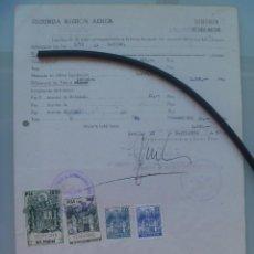 Militaria: AVIACION , SEGUNDA REGION AEREA: NOTIFICACION TRIENIOS, ETC A CAPITAN. SEVILLA, 1979. PÓLIZAS. Lote 56019077