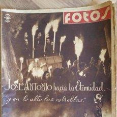 Militaria: REVISTA NACIONALSINDICALISTA FOTOS. AÑO 1939. TRANSLADO DE JOSE ANTONIO AL ESCORIAL FALANGE.. Lote 56017814
