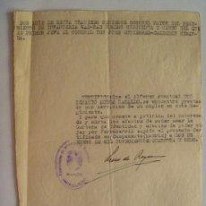 Militaria: NOTIFICACION A MILITAR DEL WAD RAS PARA VIAJAR, ETC . 1948 . CUÑO AMETRALLADORAS. Lote 56159250