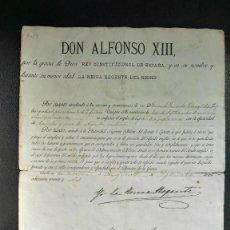 Militaria: CONCESION ORIGINAL ASCENSO A TENIENTE POR LA REINA REGENTE 1892. Lote 56208267