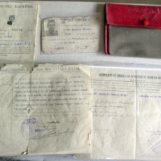 Militaria: CARTILLA CON SU FUNDA,CARNET, PASAPORTE Y DOCUMENTO-1950. Lote 56224034