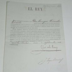 Militaria: NOMBRAMIENTO POR EL REY ALFONSO XIII DE SEGUNDO TENIENTE DE INFANTERIA A D. ENRIQUE VINADER TIRADO, . Lote 56267968
