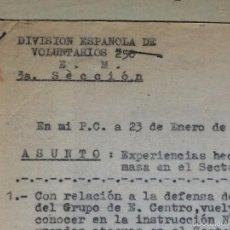 Militaria: PAQUETE DE ÓRDENES SECRETAS DE LA DIVISIÓN AZUL. Lote 56374277