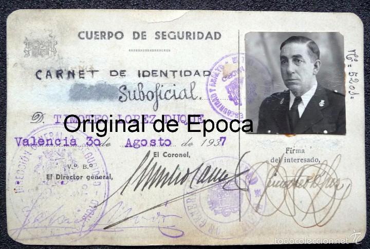 (JX-1467)CARNET DE SUBOFICIAL DEL CUERPO DE SEGURIDAD , GUARDIA DE ASALTO , GUERRA CIVIL . (Militar - Propaganda y Documentos)