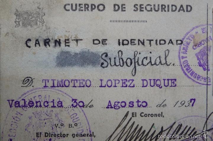 Militaria: (JX-1467)Carnet de Suboficial del Cuerpo de Seguridad , Guardia de Asalto , Guerra Civil . - Foto 2 - 56498035