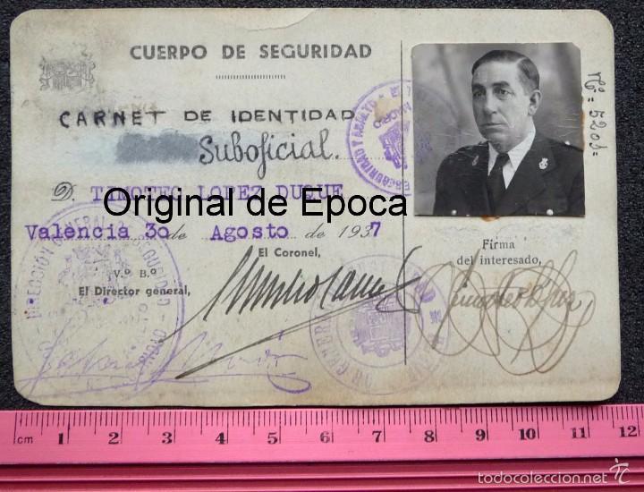 Militaria: (JX-1467)Carnet de Suboficial del Cuerpo de Seguridad , Guardia de Asalto , Guerra Civil . - Foto 10 - 56498035